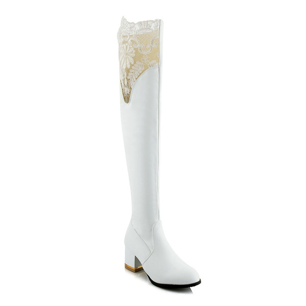 18 autumn and winter new Korean version of high-heeled shoes simple wild thick with high heel 33-46 yards