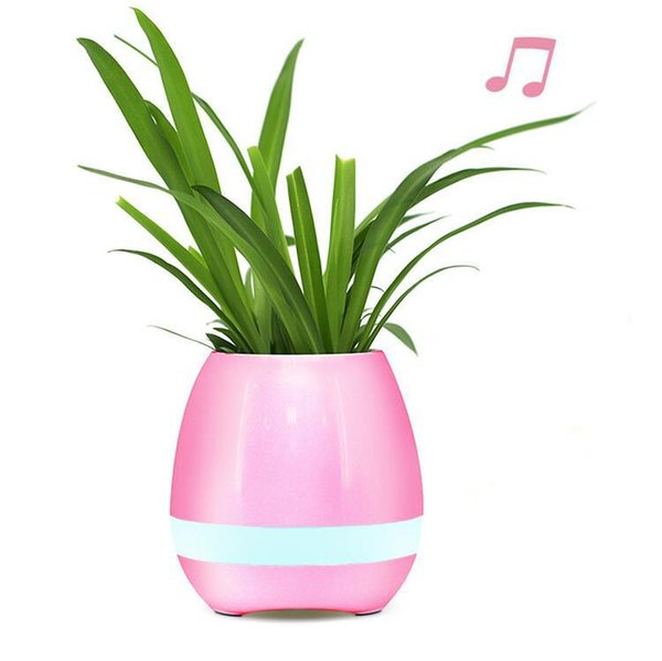 10pc Garden Mini Flower Pots Night Light Smart Touch Planters & Pots Lamp Rechargeable Wireless Bluetooth Planter Best Gift For Kids wn252B