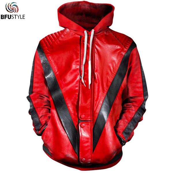 MJ Michael Jackson Thriller Hoodie Hoodies Men Women Fashion Hip Hop Streetwear 3D Hooded Sweatshirt Casual Sportswear Tracksuit