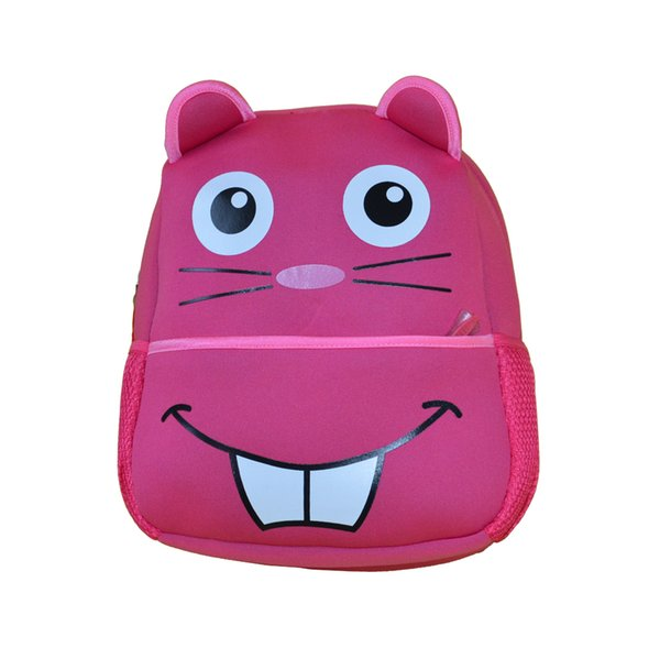 2018 Hot Seller Hot Pink Squirrel Bag Cute School Bag Best Gift for Children Unique Backpack Waterproof Free Shipping