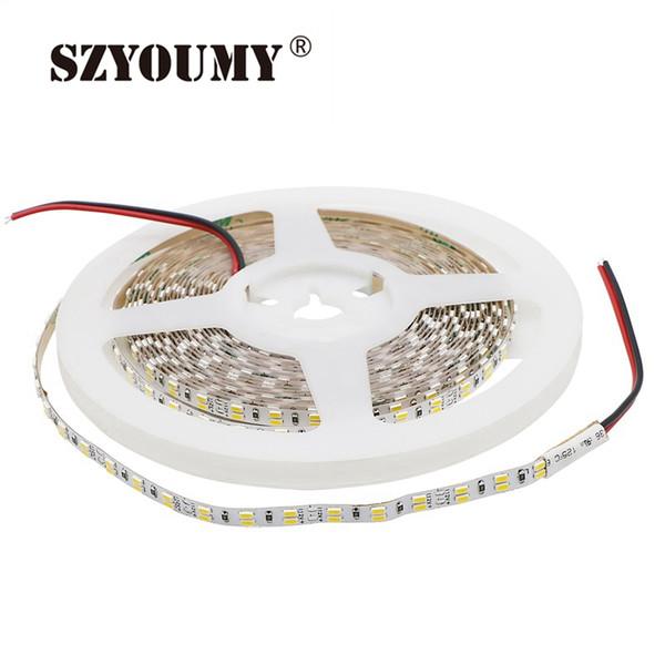 SZYOUMY 3014 Led Streifen 5 MM Zweireihig 216 Leds / M IP20 Flexibles Licht Dual Weiß Led Band 10 MM PCB Weiß Warme Farbe 5 Mt / los