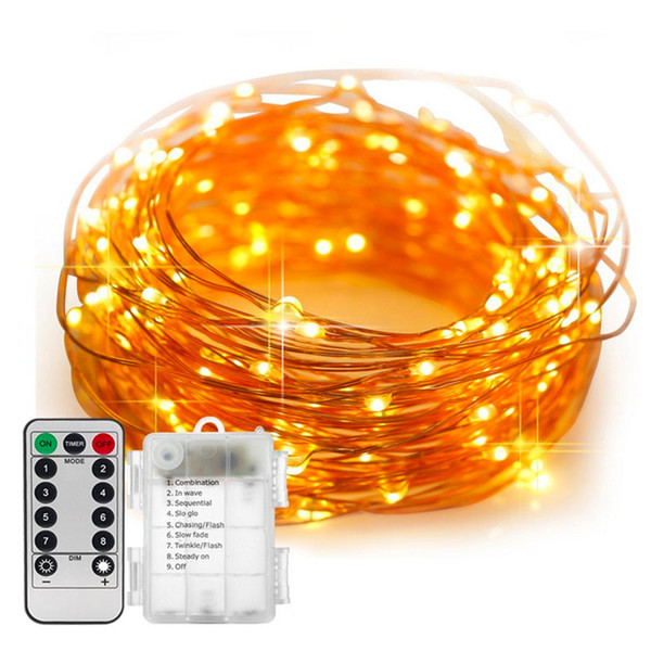 510m Waterproof Remote Control Fairy Lights Battery Operated Led Lights Decoration 8 Mode Timer String Copper Wire Christmas Paper Lantern String