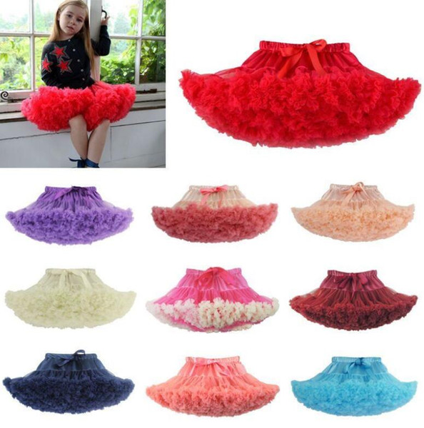Child Girl Tutu Fluffy Party Skirt Princess Kid Ballet Pettiskirt Dancewear 27 design Ballet Dancewear Tutu Skirt Dress KKA5768