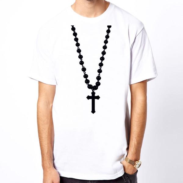 La maglietta trasversale # 2 della stampa della maglietta degli uomini di religione del simbolo del grafico di progettazione della maglietta trasversale famosa della maglietta della nuova maglietta libera di trasporto superiore della maglietta