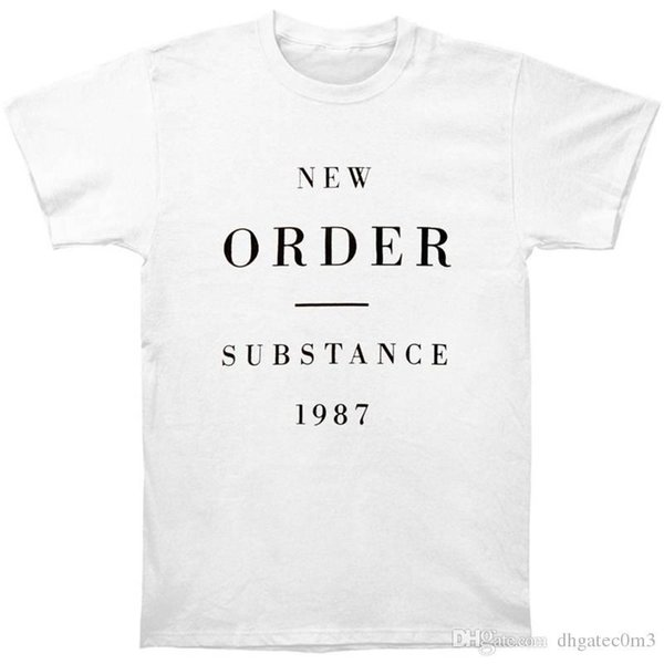 High Quality Custom Printed Tops Hipster Tees T Shirt Men'S Crew Neck Casual Short New Order Substance 1987 Tee Shirts