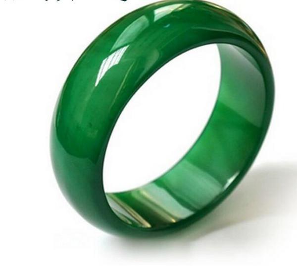 Anello di giada naturale con agata Pollice indice di dito formato anello di cristallo dito Anello di giada moda uomo e donna