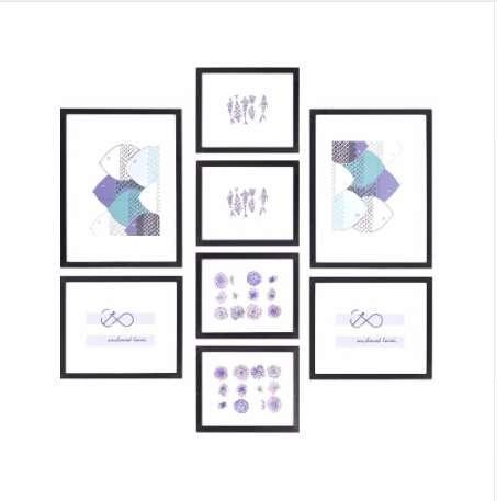 Wall 8 Boxes Photo Frame Decoração de Casa Multi-frame 8 Pçs / set Picture Frames Imagem Wall Frame Set