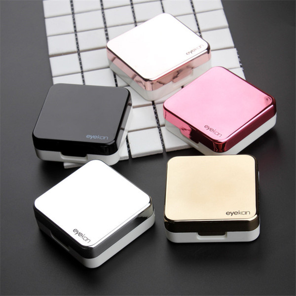 Unisex Contact Lenses Box With Mirror Reflective Contact Lenses Case Eyeglasses Case Portable Travel kit 5 Colors