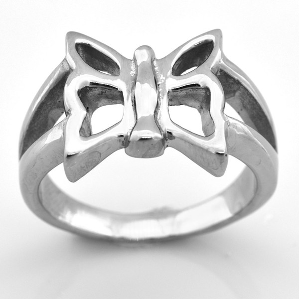 Fanssteel STAINLESS STEEL MENS women JEWELRY butterfly insect ring fashion ring GIFT FOR BROTHERS sisters FSR08W65