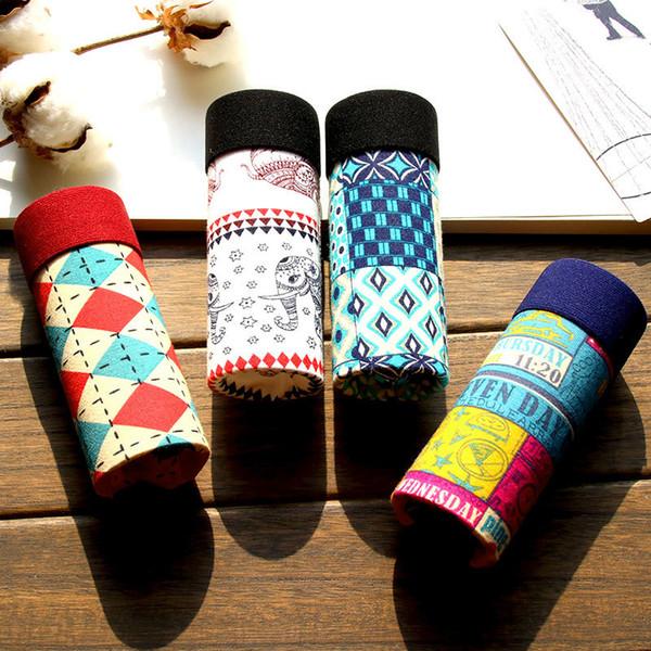 4pcs/lot Luxury Designer Underpants Man Printed Modal Underwear Men Soft Comfortable Slip Homme Sexy Boxer Shorts Men's Shorts