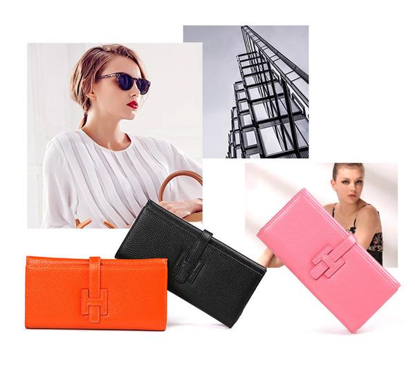 Venta al por mayor- nuevas carteras de la manera Monedero de las mujeres Monedero femenino de cuero de las señoras del bolso del dinero del monedero para el envío libre