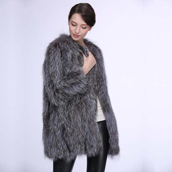 S-6XL Yeni Moda Avrupa Kürklü Uzun Palto Kadın Sahte Fox Kürk ceket Kadınlar Kışlıklar