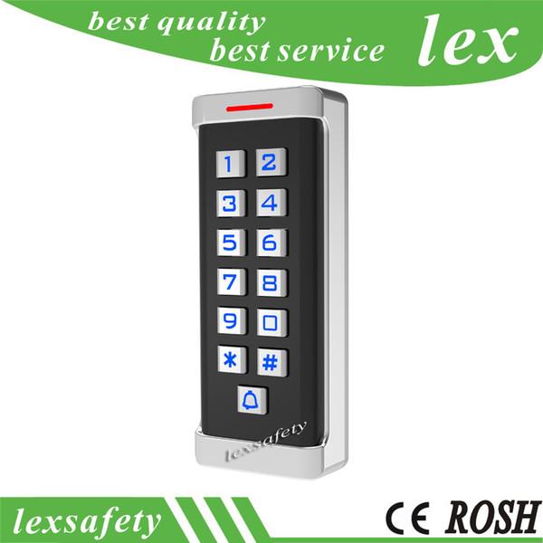 13.56 mhz ic metal independiente de múltiples funciones de controlador de acceso, teclado RFID Sistema de control de acceso Proximity Card Standalone + 2keyfobs