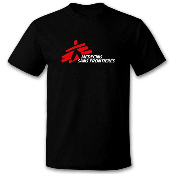 Doctors Without Borders Logo T-Shirt Tees Size S-3XL Top Quality T Shirt Men O Neck top tee Great Discount Cotton Men Tee