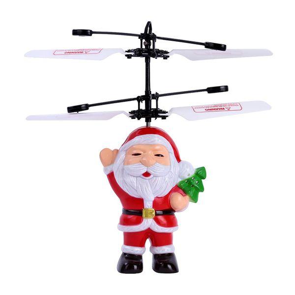 Nouveau Facile à utiliser Hélicoptère Jouet Père Noël Induction Vol Mini Avion Main Induction Smart Capteur Cadeau De Vacances Enfants Jouets