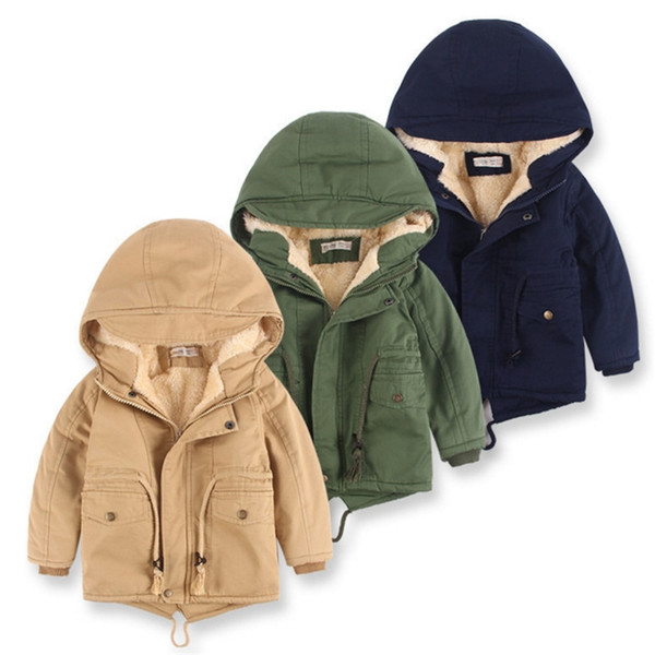 best selling Boys Swallowtail Hoodies Jackets Baby Boy Winter Padded Cotton Coat Classical Casual Rope Kids Jacket Fur Cashmere Thickening Jacket 3-10T