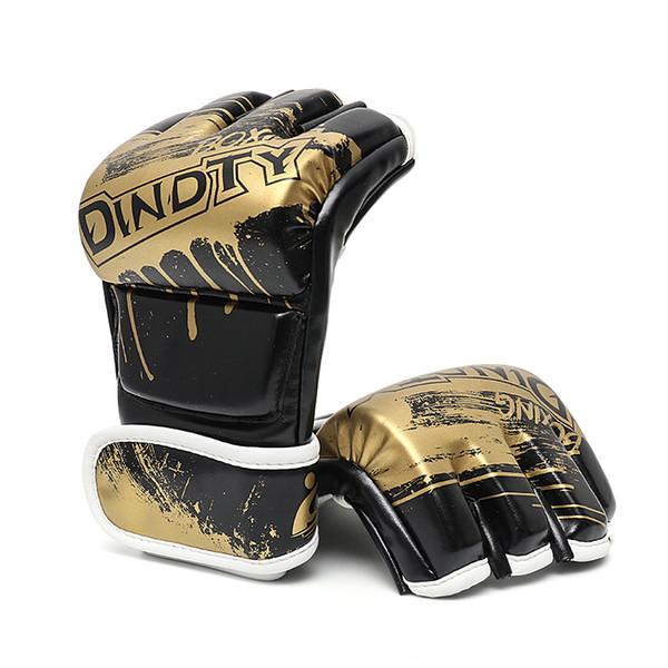 Adult Thick Boxing Gloves MMA Gloves Half inger Sanda Taekwondo Fight MMA Sandbag Glove Professional Training Equipment