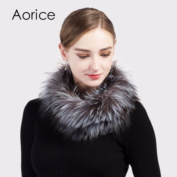 Pudi SF717 girls real fox fur ring brand new 2017 winter women's Rex rabbit fur scarf scarves rings muffler neckerchief wrap