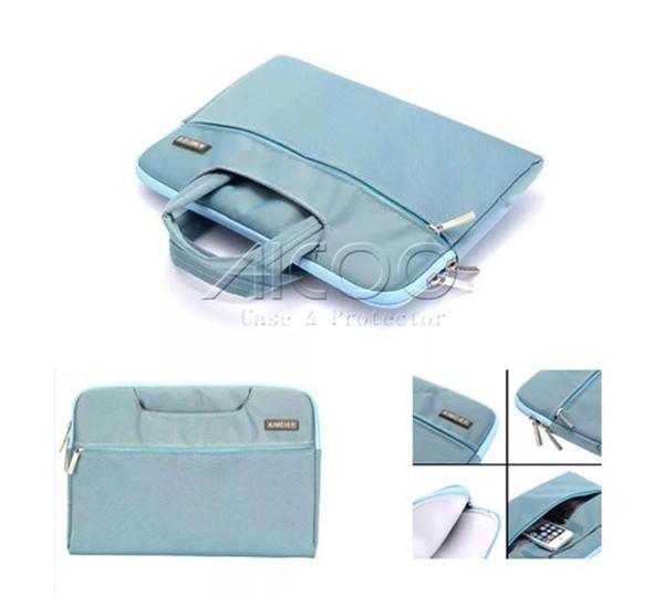 Zipper Laptop Macbook Hand bag For Macbook Air Pro Retina ipad Air Mini Retina 11 13 15 inch Multifunction Portable Protective Bag OPP BAG