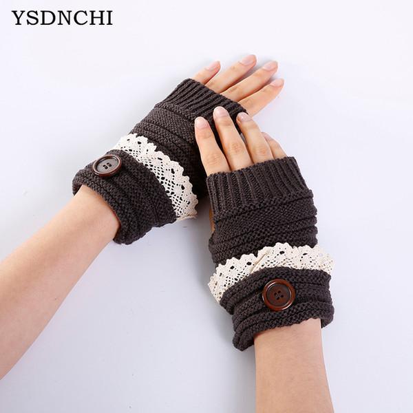 Frauen Handschuhe Stilvolle Handwärmer Winter Handschuhe Frauen Arm Häkeln Stricken Faux Wolle Mitten Warm Fingerless Femme
