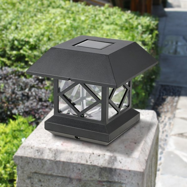 Garden Pillar Lights Coupons   Solar Powered Light IP65 Waterproof  Resistant Outdoor Sensor LED Wall Pillar