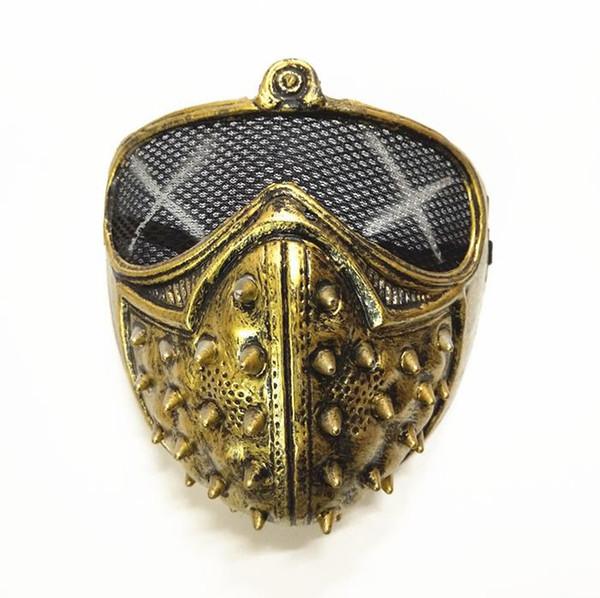 Halloween Devil Ghost Mask Party COS Game Film Mask Punk Rivet Death horror masks helmet eyepatch face muffle black gold silver presents