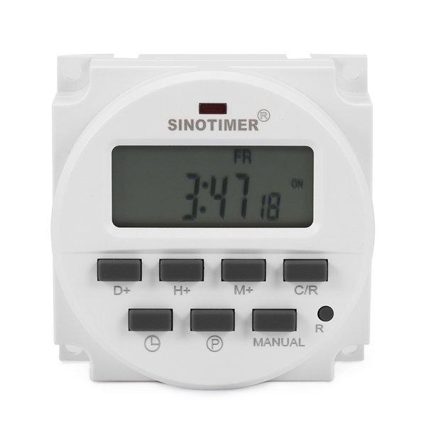 Temporizador programável do controle de poder de Digitas do interruptor de tempo do microcomputador Exposição LCD de cinco funções 220 - 240V CA 50 / 60Hz