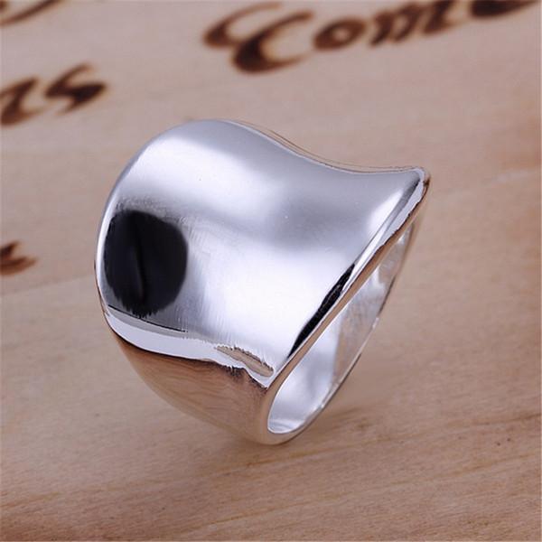 R52 presente de natal frete grátis por atacado moda polegar banhado a prata suave anel de alta qualidade moda clássico jóias