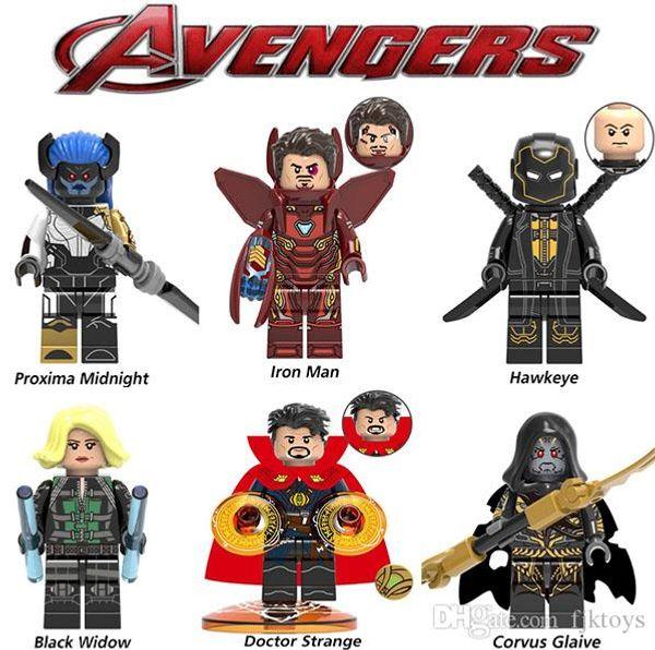 NEW Super hero Mini Figures Blocks Marvel Avengers Doctor Strange Spiderman Ironman Black Panther building blocks kids gifts