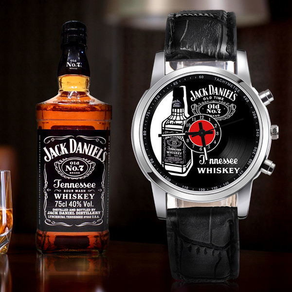 Jack Daniels Whiskey Watches Women Fashion Flowers bracelet Watches Sport Analog Quartz Wrist Watch top brand luxury Wristwatch