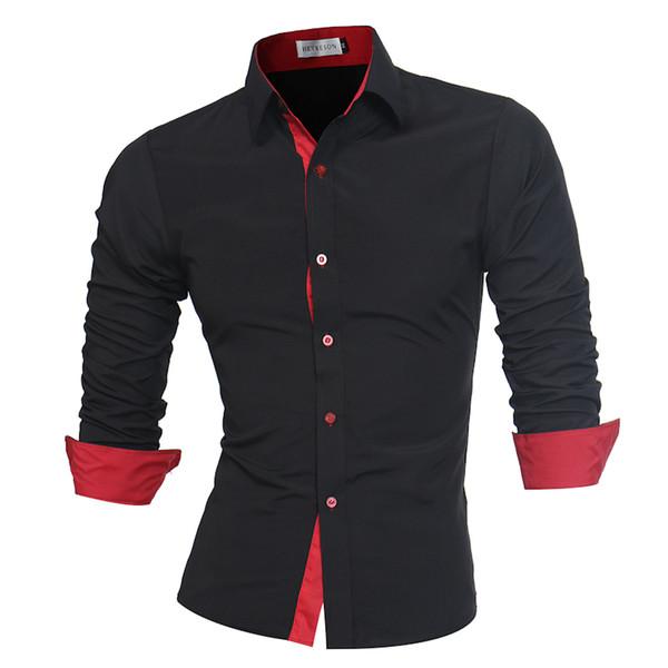 Men Shirt Brand 2018 Male High Quality Long Sleeve Shirts Casual Slim Fit Black Man Dress Shirts Plus Size 4XL