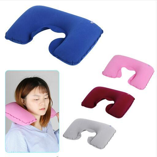 1 PCS Inflatable U Shaped Travel Pillow Neck Car Head Rest Air Cushion for Travel Office Nap Head Rest Air Cushion Neck Pillow
