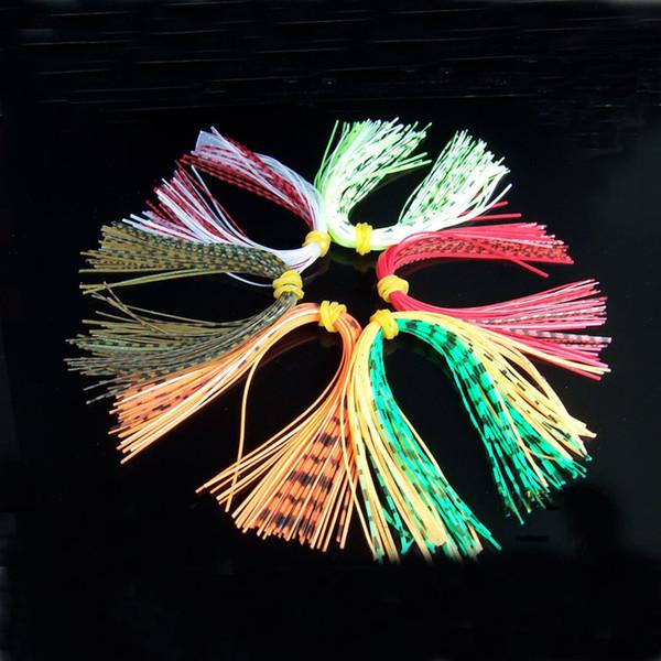 il silicone borda il nuovo arrivo 17 colori che pesca gli accessori di pesca del calamaro del silicone del gomito del filo del calamaro degli accessori DIY 20sets che spedice liberamente
