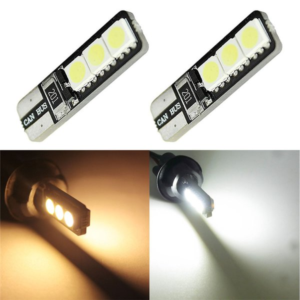T10 LED 194 168 W5W 6 SMD 5050 Canbus No Error Car Interior Bulbs Light Parking Clearance Lamp 12V DC White/Warm White