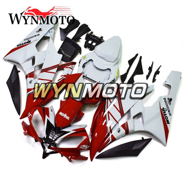 Full Fairings Yamaha YZF1000 R6 2006 2007 06 07 Injection Mold Bodywork Motorcycle Fairings Covers Gloss Red White Body Kits Carenes Hulls