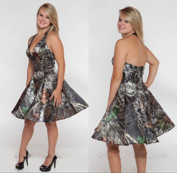 Cheap Camo Bridesmaid Dresses Short Summer Maid of Honor Gowns A Line Under $90 Formal Wedding Party Gowns