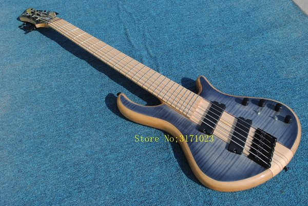 Mayones custom bass guitar 6 string mayones fanned frets electric bass guitar Maple fingerboard neck through body with free shipping