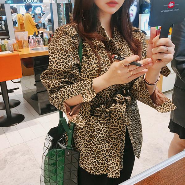 Мода женщины удобные толстые теплый простой свободные пальто новое прибытие элегантный верхняя одежда старинные темперамент леопарда пальто куртка