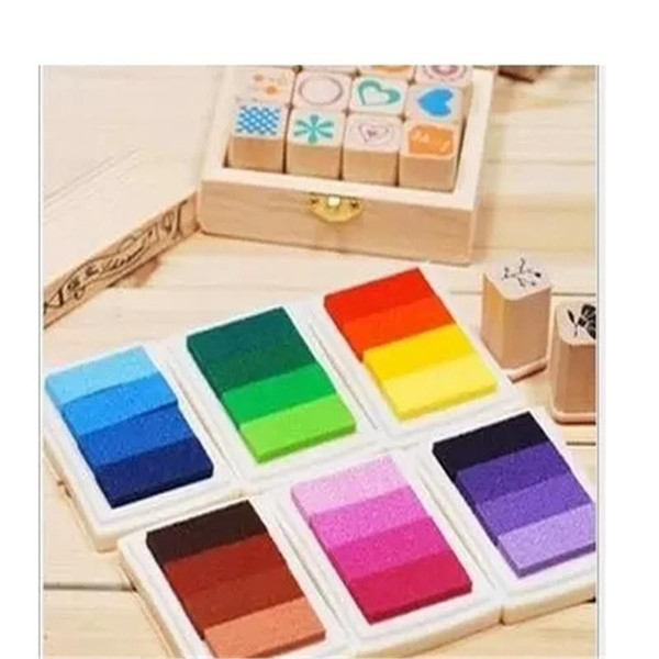 DHL Free shipping 200pcs ink pad color gradual change inkpad for stamp