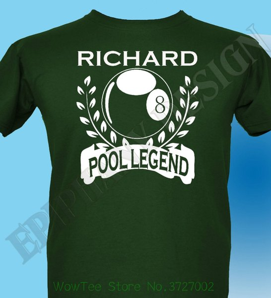 Personalised Pool T - Shrt Mens Ladies Gift Idea Add Name Of Your Choice 8 Ball Design Style New Fashion Short Sleeve