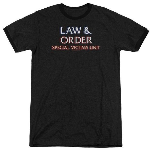 LAW AND ORDER SVU LOGO T-Shirt Men's Heather Ringer Short Sleeve Brand shirts jeans Print Classic Quality High t-shirt