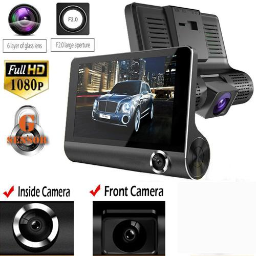 NEW1080P HD 170 Angle 3 Lens Car DVR Dash Cam G-sensor Recorder and Rearview Camera Three Way Camera Tri-lens Night vision Camco Description