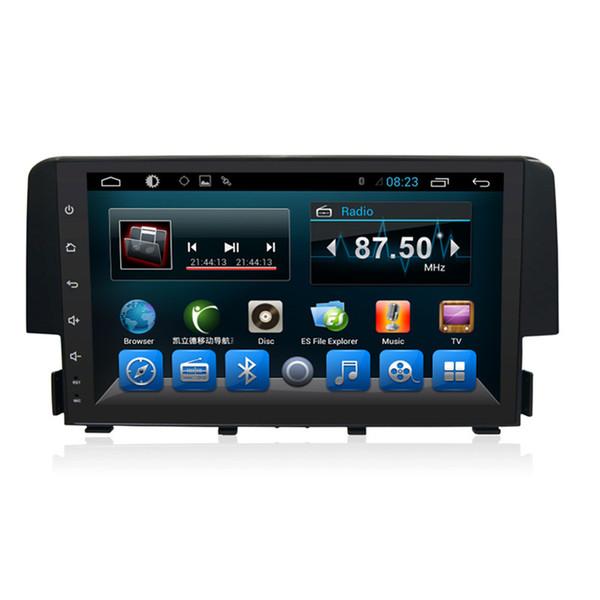 9 '' tela de toque do carro dvd player gps rádio tv OBD Bluetooth Para Honda Civic 2016 2017 com bluetooth Wifi 3G