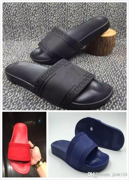 (Sacos De poeira + Caixa) sandálias Medusa Scuffs Marca homens verão huaraches chinelos chinelos preto vermelho branco loafers slides sandálias de grife 6