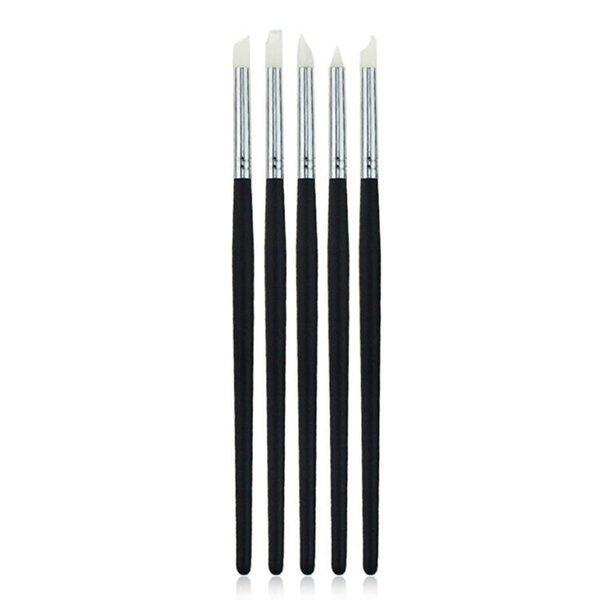 Wholesale- 2016 New 5Pcs 6 Inch Silicone Rubber Pen Clay Sculpture Pottery Carving Modeling Clay 100% New and High Quality Anne