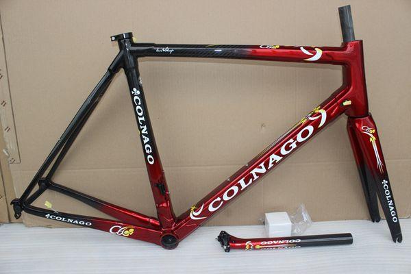 25 couleurs 2018 VENTE CHAUDE Colnago C60 carbone cadre de vélo cadre de route 48 50 52 54 56cm T1000 cadre de vélo en carbone C611