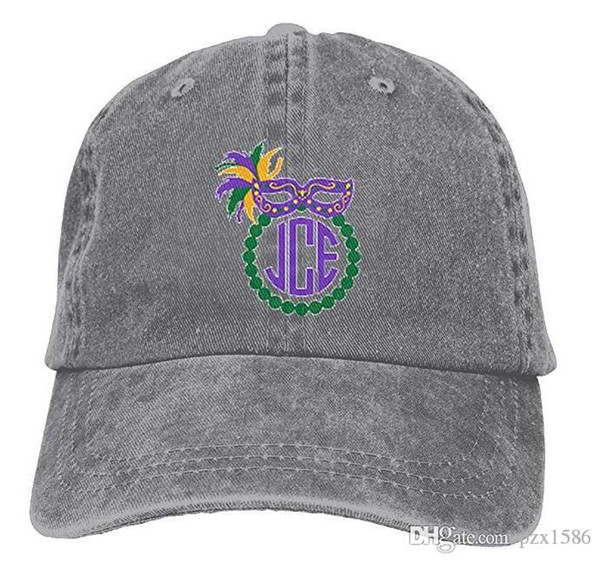Mardi Gras Baseball Caps Cool Curved Visor Snapback Hat for Kids