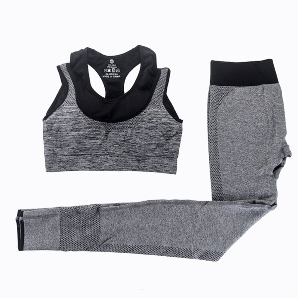 2 Pieces Women Yoga Sets Fitness Sports Bra Yoga Pants Leggings Set Gym Running Sport Suit Set Sportswear Active Fashion Sexy Outfits
