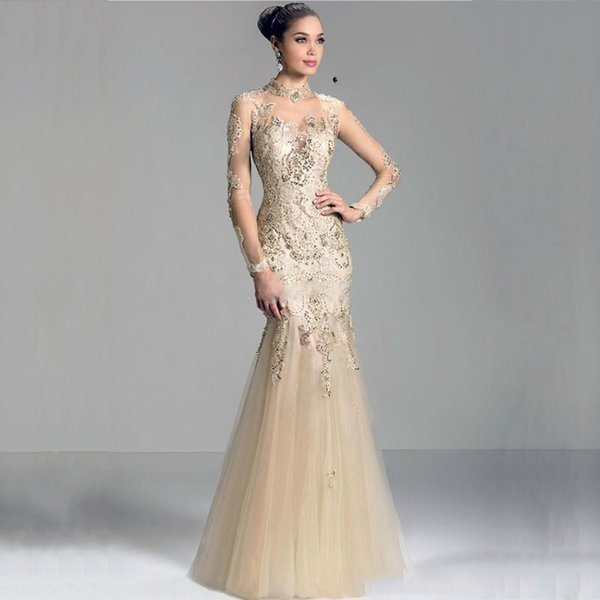 MANSA 2018 Modest Mermaid Mother Of The Bride Dresses With Sleeves Appliques Long Lace Mother Bride Dress For Weddings