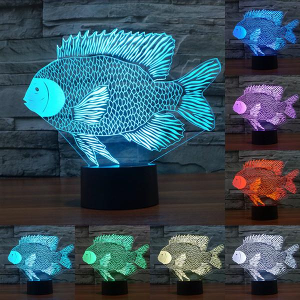 Mesa Para 3D Compre USB Nightlight Niños Niños Sleep Del Peces A10 Para 86 Visual Led es IY803520 Marinos Nocturnas Baby Navidad Luces Touch Lámpara TOXiukPZ